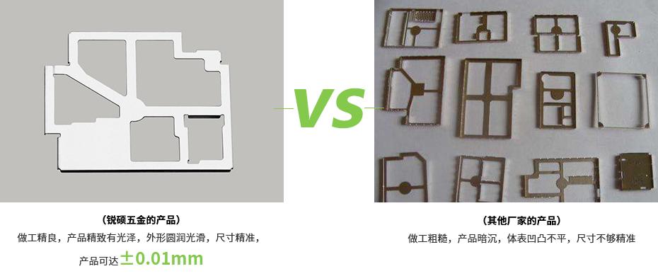 屏蔽罩-固定架产品对比